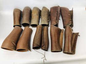 SIX PAIRS OF LEATHER BUSKINS