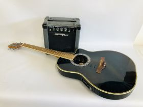 A LEGATO ELECTRIC GUITAR MODEL NUMBER RB-120E/MS (S/N R202274) WITH STARFIRE TEC10E LEAD AMPLIFIER
