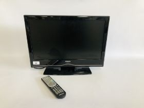 FINLUX 192 TELEVISION WITH BUILT IN DVD PLAYER AND REMOTE CONTROL - SOLD AS SEEN