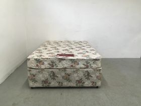 NESTLEDOWN ORTHAPAEDIC DOUBLE DIVAN AND MATTRESS WITH DRAWER BASE