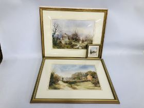 """PAIR OF FRAMED WATERCOLOURS BEARING SIGNATURE """"JENNY HAYLETT"""" THE GAMEKEEPERS COTTAGE WINTERTON AND"""