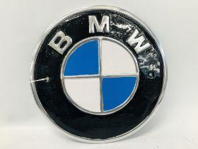 (R) ALUMINIUM BMW PLAQUE