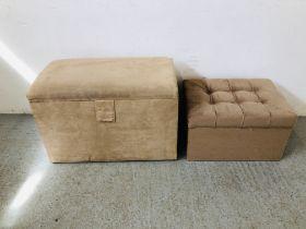 MODERN FAUX SUEDE BLANKET BOX,