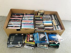 3 X BOXES OF ASSORTED DVD'S AND CD'S