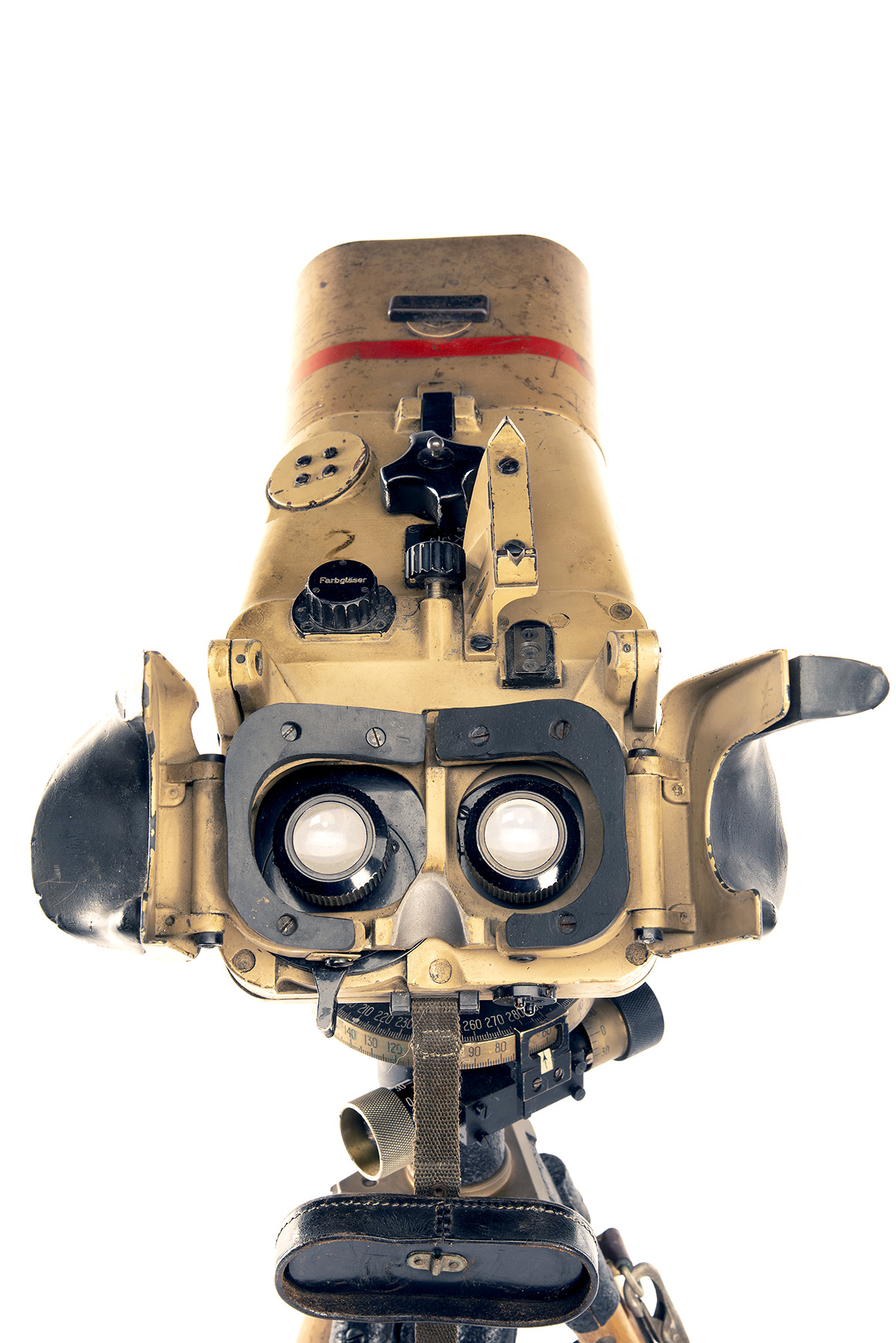CARL ZEISS, JENA A RARE PAIR OF 12x60 INCLINED FLAK RANGING BINOCULARS WITH TRIPOD, serial no. - Image 4 of 7