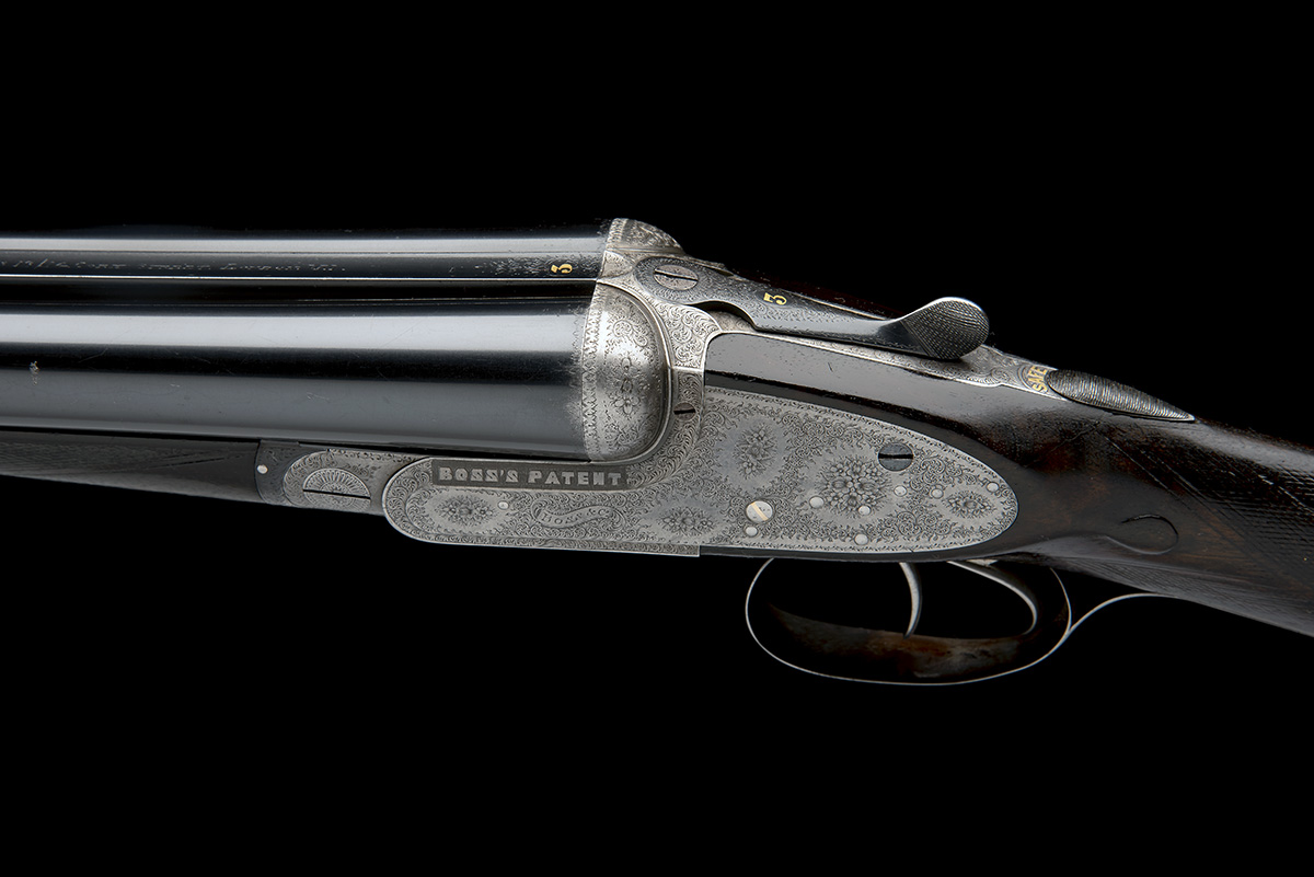 BOSS & CO. A 12-BORE EASY-OPENING SIDELOCK EJECTOR, serial no. 4854, for 1901, 28in. nitro - Image 6 of 8