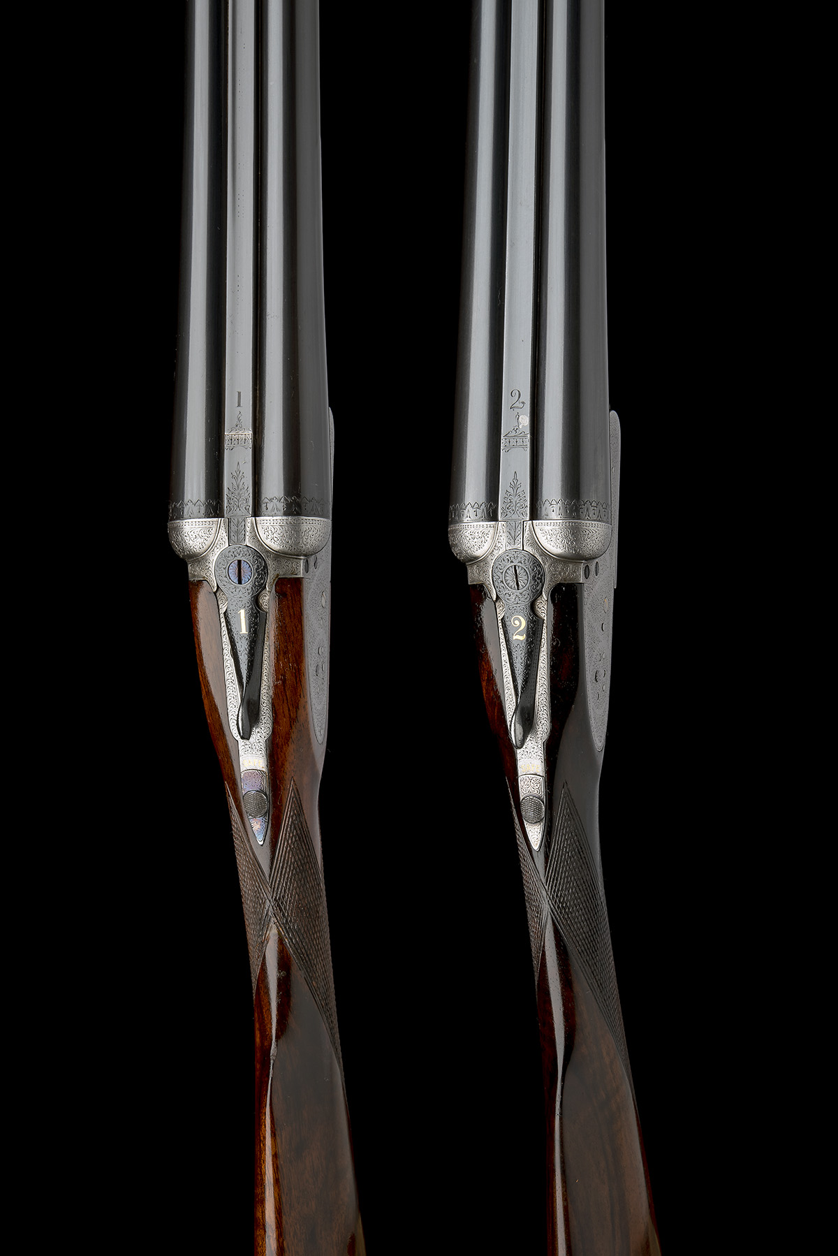 B. NORMAN A PAIR OF 12-BORE SIDELOCK EJECTORS, serial no. 2051 / 2, first quarter of the 20th - Image 6 of 8