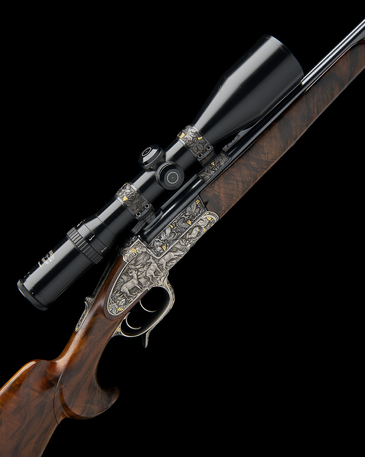 H. SCHEIRING AN 8X57RS / 5.6X50R MAG. JAEGER PATENT SIDEPLATED OVER AND UNDER PUSH-FORWARD