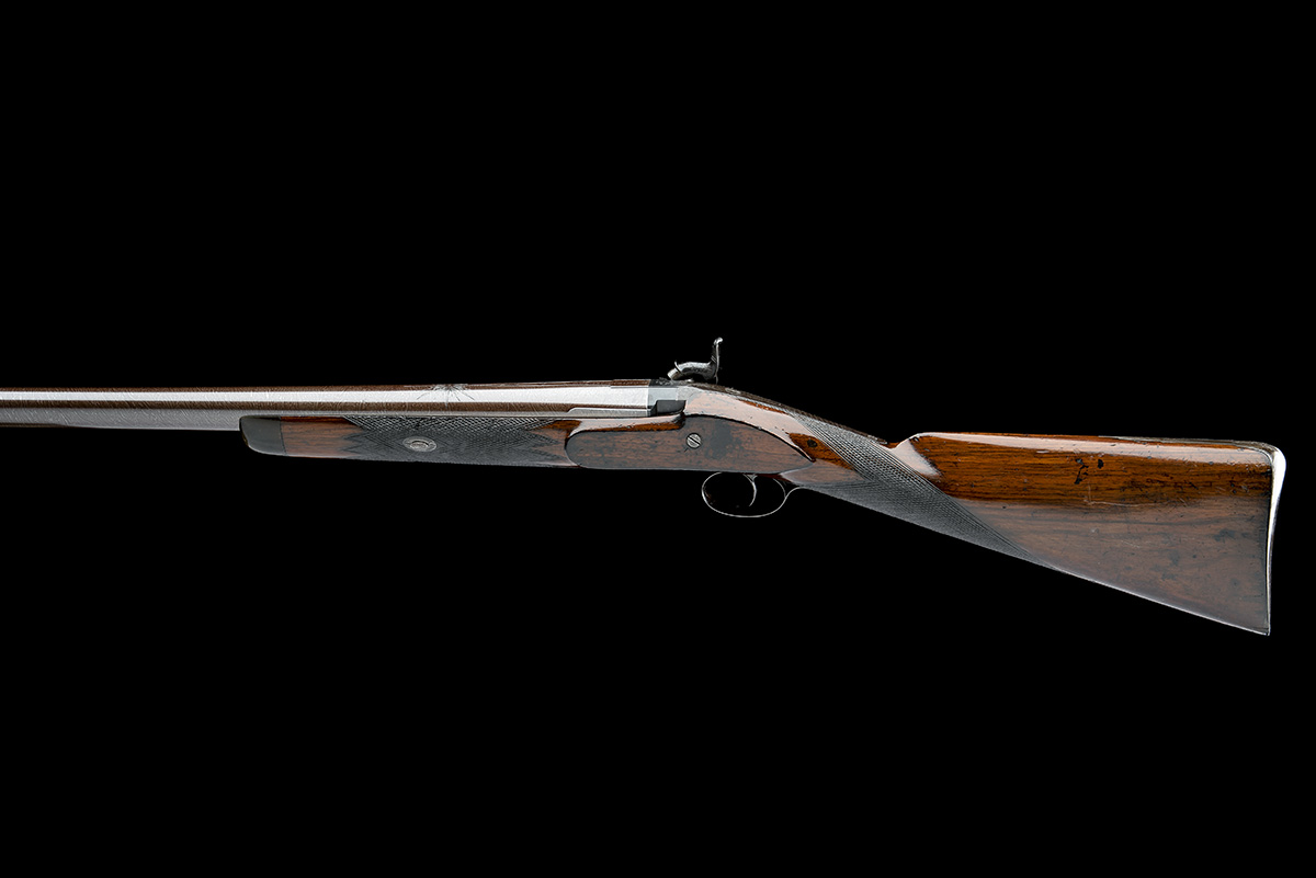 BENTLEY & PLAYFAIR , BIRMINGHAM A GOOD 6-BORE PERCUSSION SINGLE-BARRELLED LIVE PIGEON GUN, no - Image 2 of 7