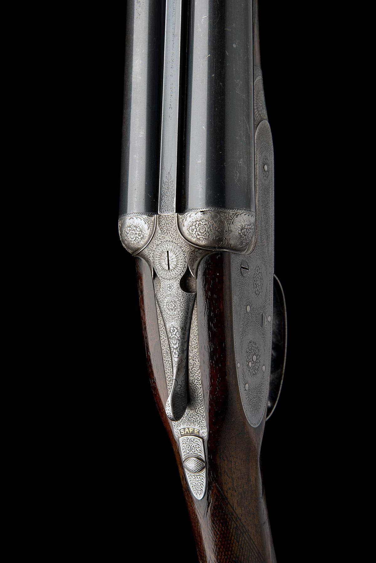 J. PURDEY & SONS A LIGHTWEIGHT 12-BORE ROUNDED-BAR SELF-OPENING SIDELOCK EJECTOR, serial no. - Image 4 of 9