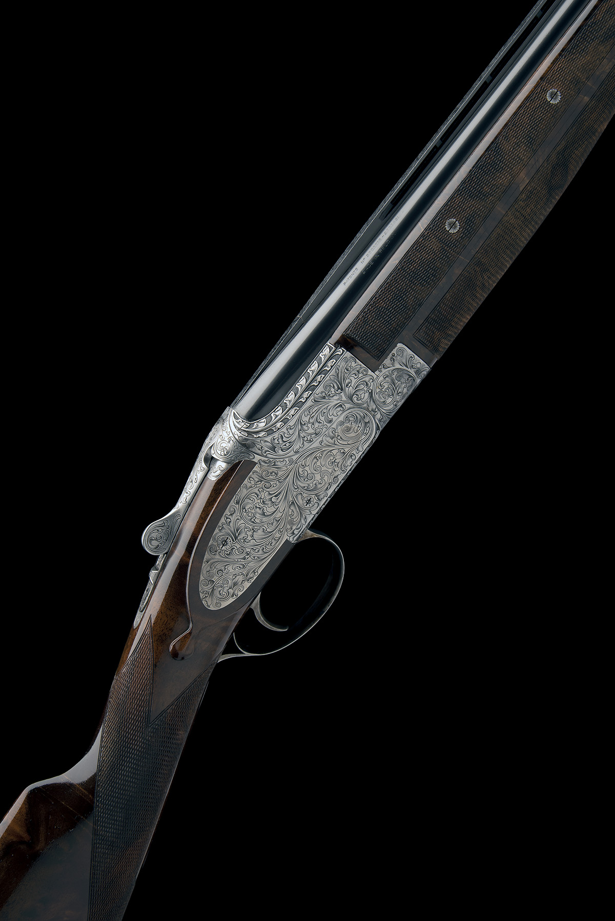 BROWNING ARMS CO. A CUSTOM JACOBY-ENGRAVED 20-BORE SIDEPLATED 'B25' SINGLE-TRIGGER OVER AND UNDER