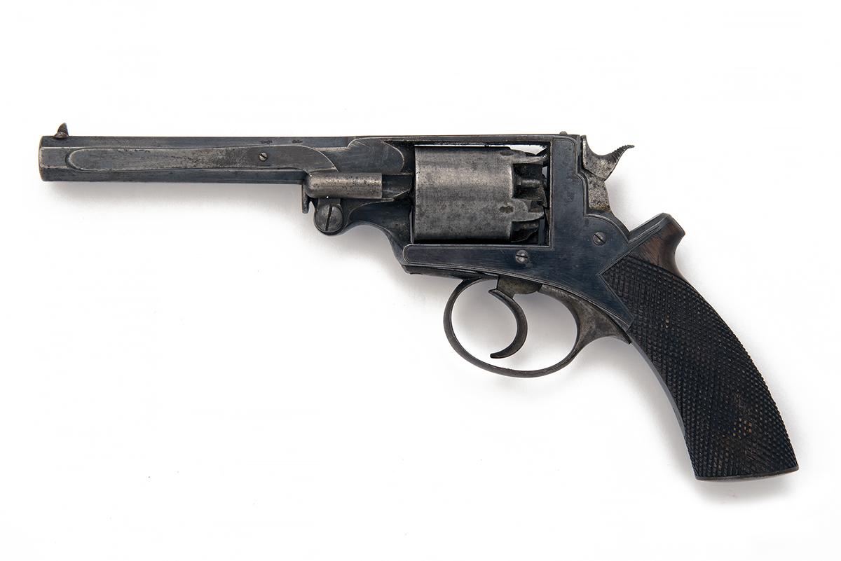 LONDON ARMOURY CO., LONDON A 54-BORE PERCUSSION FIVE-SHOT REVOLVER, MODEL 'ADAM'S PATENT', serial - Image 2 of 2