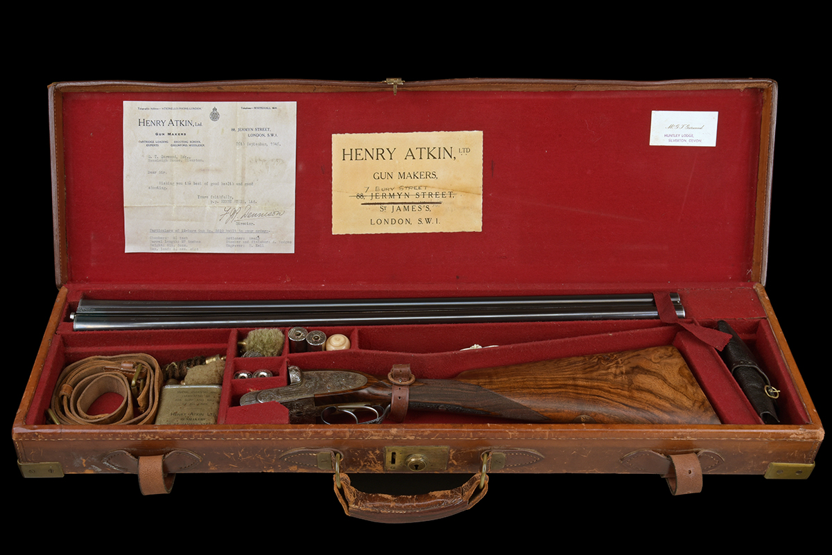 FORMERLY THE PROPERTY OF GOUGH THOMAS HENRY ATKIN A FINE, KELL-ENGRAVED 12-BORE SPRING-OPENING - Image 9 of 13