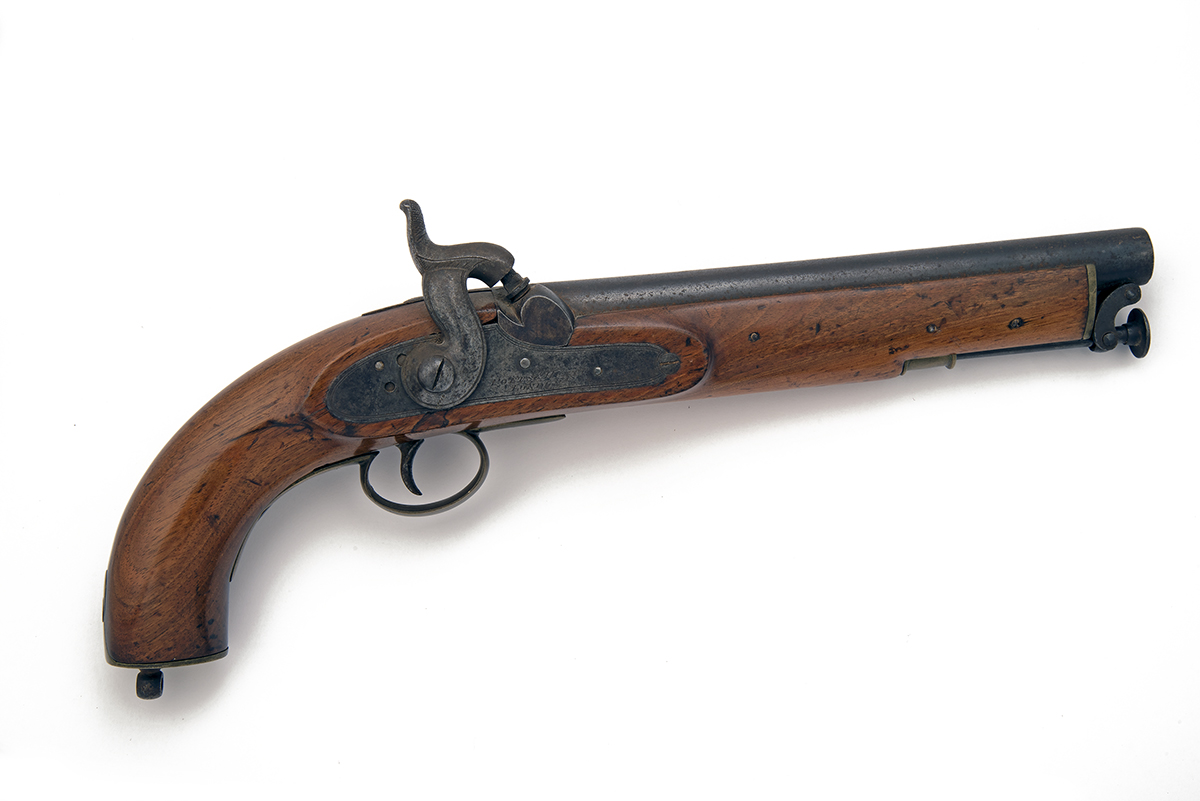POTTS & HUNT, LONDON A .577 PERCUSSION SINGLE-SHOT CAVALRY-PISTOL, no visible serial number, of