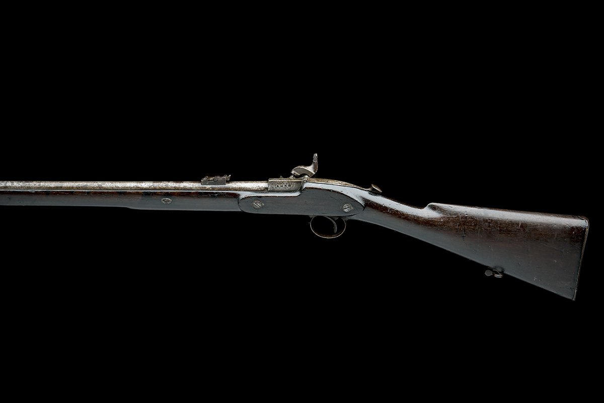 WESTLEY RICHARDS, BIRMINGHAM A .450 PERCUSSION BREECH-LOADING CARBINE, MODEL 'MONKEY-TAIL', serial - Image 2 of 9