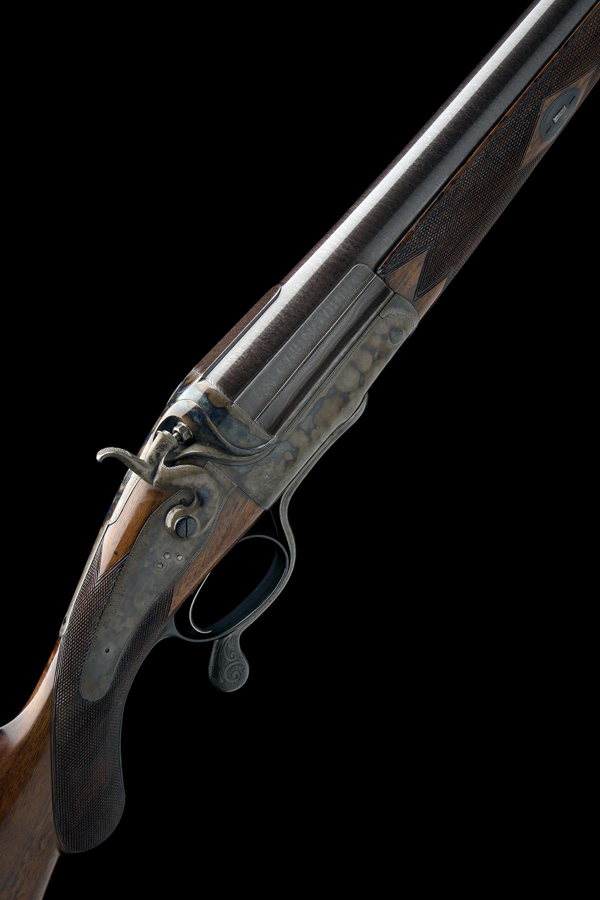 R.B. RODDA A 4-BORE SINGLE-BARRELLED ROTARY-UNDERLEVER HAMMERGUN, serial no. 26013, circa 1880, 38