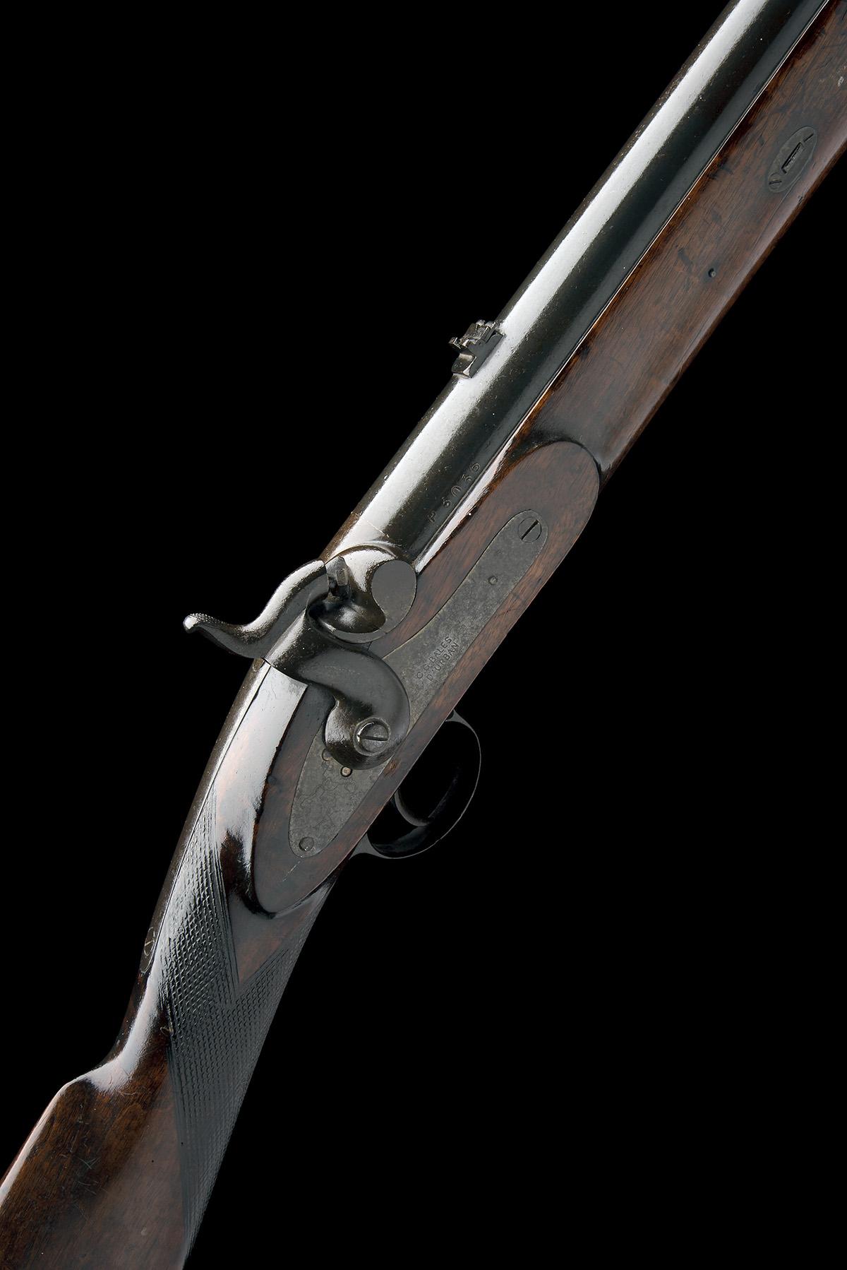 C.G. BALES, DURBAN, SOUTH AFRICA A RARE 4-BORE PERCUSSION RIFLED SHOT & BALL GUN FOR DANGEROUS GAME,