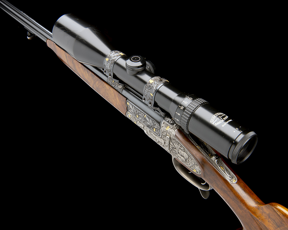 H. SCHEIRING AN 8X57RS / 5.6X50R MAG. JAEGER PATENT SIDEPLATED OVER AND UNDER PUSH-FORWARD - Image 7 of 12