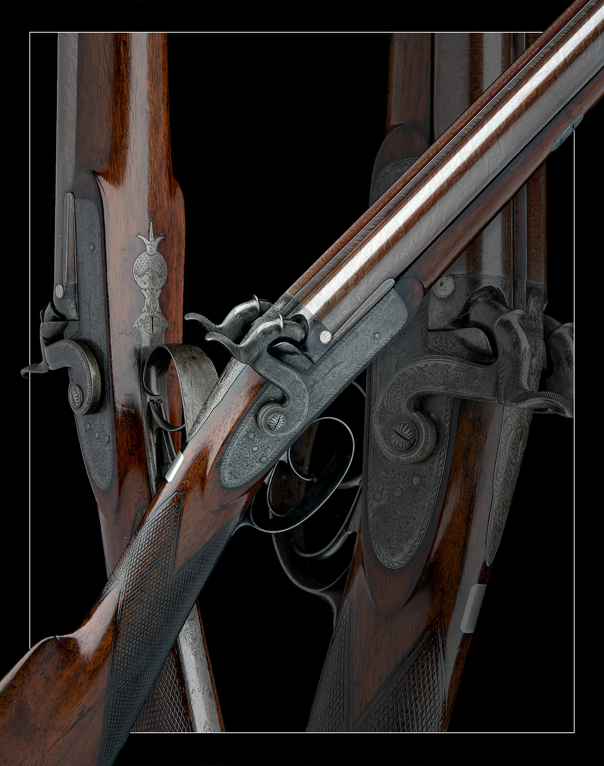 G & J DEAN, LONDON A FINE 16-BORE PERCUSSION DOUBLE-BARRELLED SPORTING-GUN, serial no. 6201, circa - Image 7 of 8