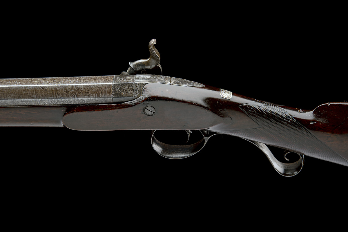 SMITH, LONDON A 12-BORE PERCUSSION SINGLE-BARRELLED SPORTING-GUN, no visible serial number, circa - Image 4 of 8