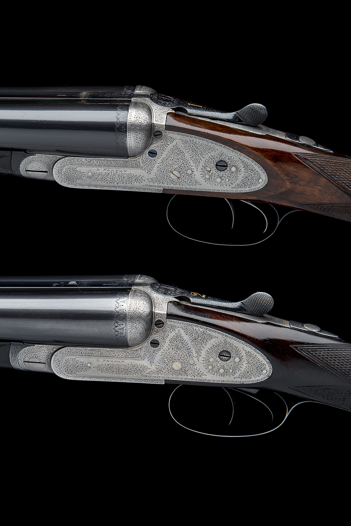 B. NORMAN A PAIR OF 12-BORE SIDELOCK EJECTORS, serial no. 2051 / 2, first quarter of the 20th - Image 5 of 8
