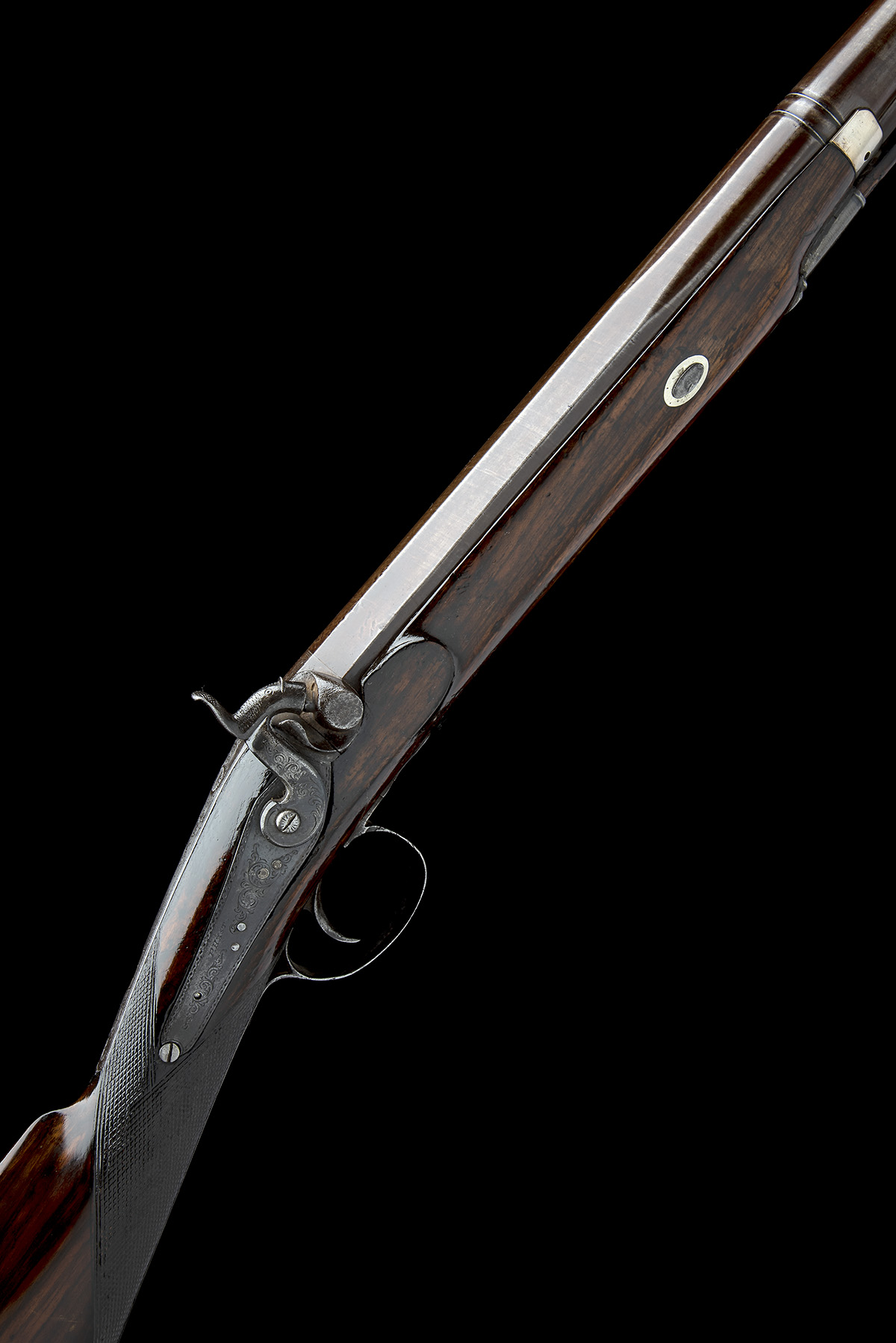 P. HAST, COLCHESTER A 9-BORE PERCUSSION SINGLE-BARRELLED FOWLING-PIECE, no visible serial number,