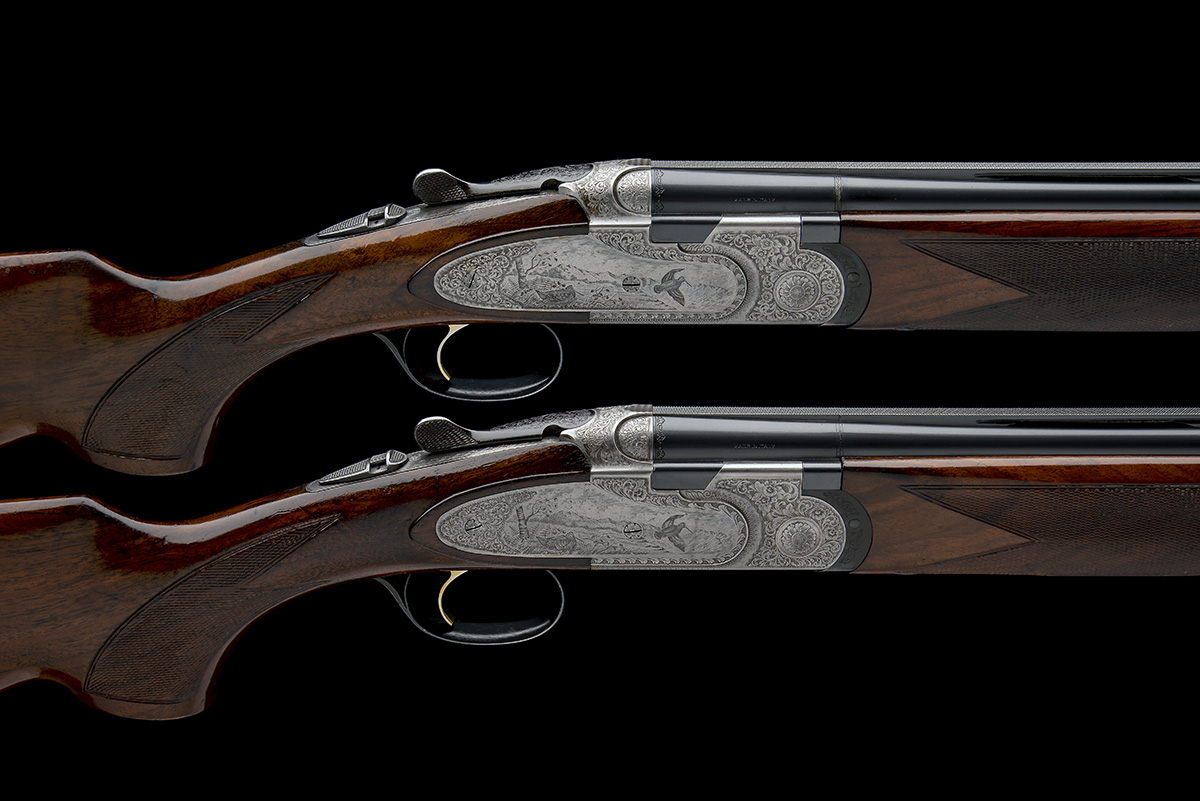 P. BERETTA A PAIR OF 20-BORE 'MOD. 687 EELL' SINGLE-TRIGGER OVER AND UNDER EJECTORS, serial no.
