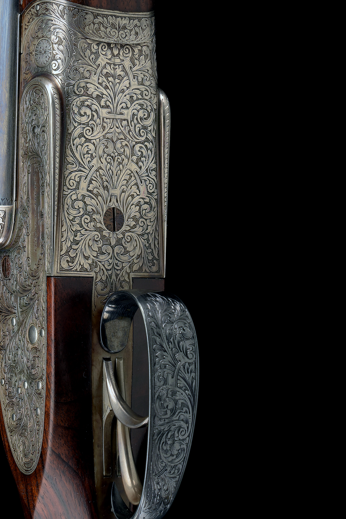 FORMERLY THE PROPERTY OF GOUGH THOMAS HENRY ATKIN A FINE, KELL-ENGRAVED 12-BORE SPRING-OPENING - Image 5 of 13