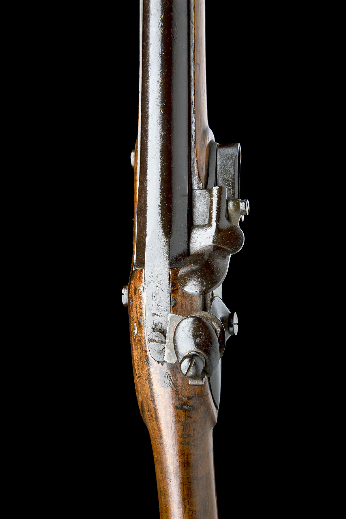 A GOOD .69 FLINTLOCK MUSKET, UNSIGNED, MODEL 'BELGIAN M1815 CHARLEVILLE', serial no. M2178, dated - Image 7 of 8