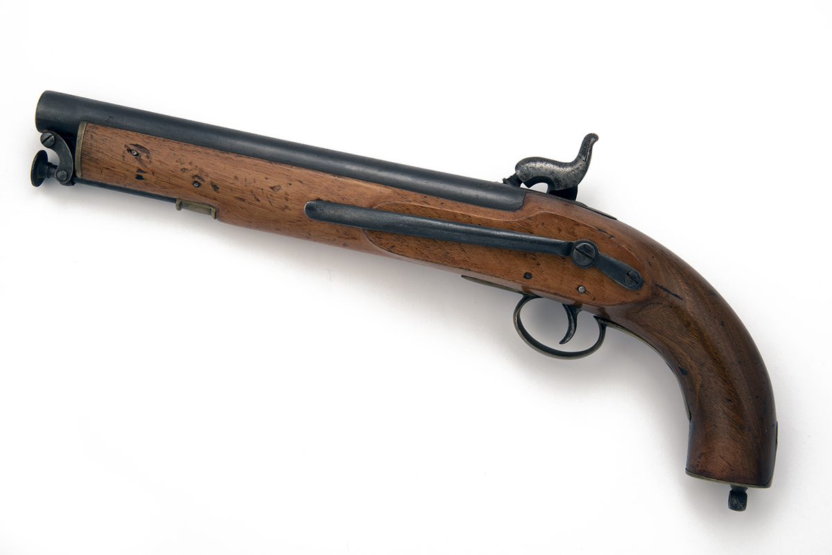 POTTS & HUNT, LONDON A .577 PERCUSSION SINGLE-SHOT CAVALRY-PISTOL, no visible serial number, of - Image 2 of 2