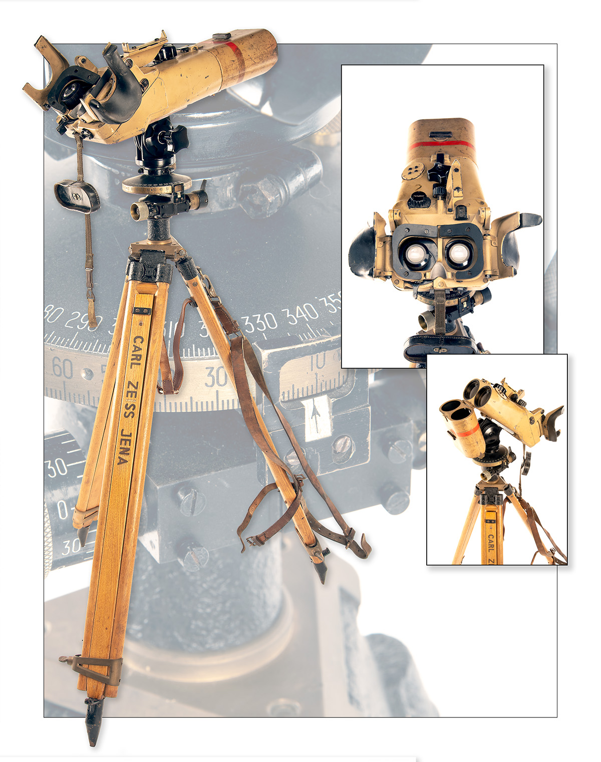 CARL ZEISS, JENA A RARE PAIR OF 12x60 INCLINED FLAK RANGING BINOCULARS WITH TRIPOD, serial no. - Image 7 of 7