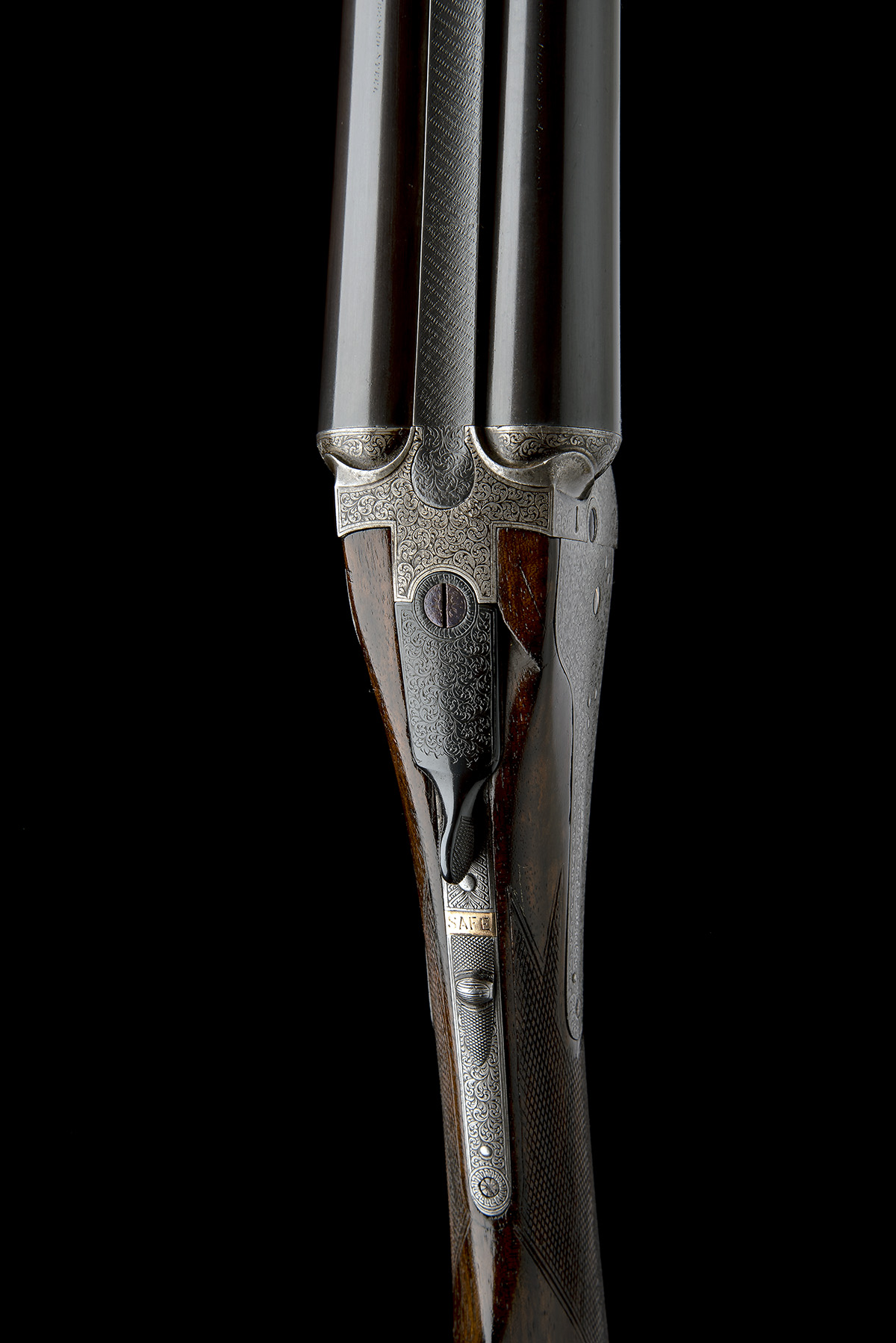 FREDc. T. BAKER A 12-BORE NEEDHAM 1874 PATENT HAMMERLESS SIDELOCK EJECTOR, serial no. 6749, circa - Image 6 of 11