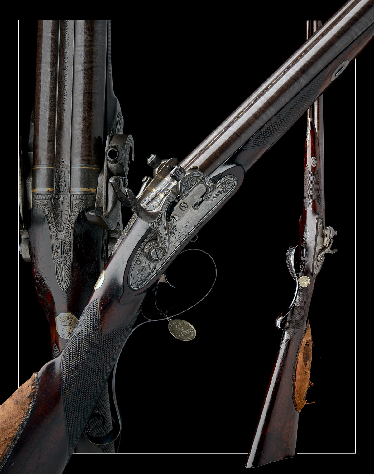 EX W. KEITH NEAL: FORSYTH & CO., LONDON AN EXCEEDINGLY RARE 19-BORE SELF-PRIMING SPORTING GUN, - Image 21 of 21
