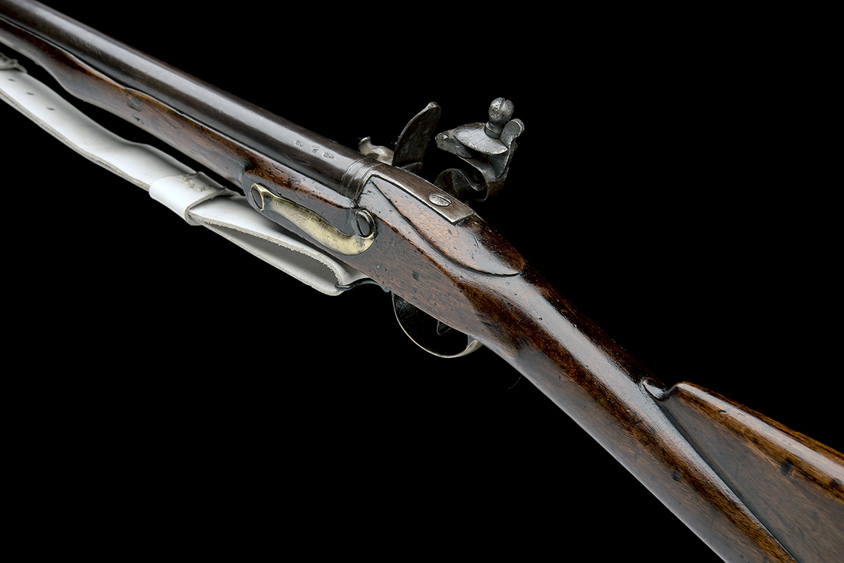 REED, LONDON A .750 FLINTLOCK MUSKET, MODEL 'INDIA PATTERN BROWN BESS', rack no. 47, WITH BAYONET, - Image 5 of 8