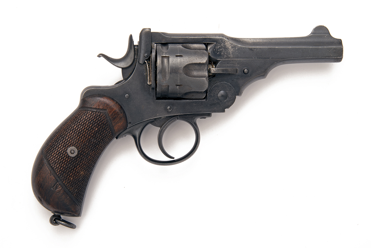 WEBLEY FOR TRULOCK & HARRISS, DUBLIN A .455 SIX-SHOT DOUBLE-ACTION REVOLVER, MODEL 'MKI', serial no. - Image 2 of 3