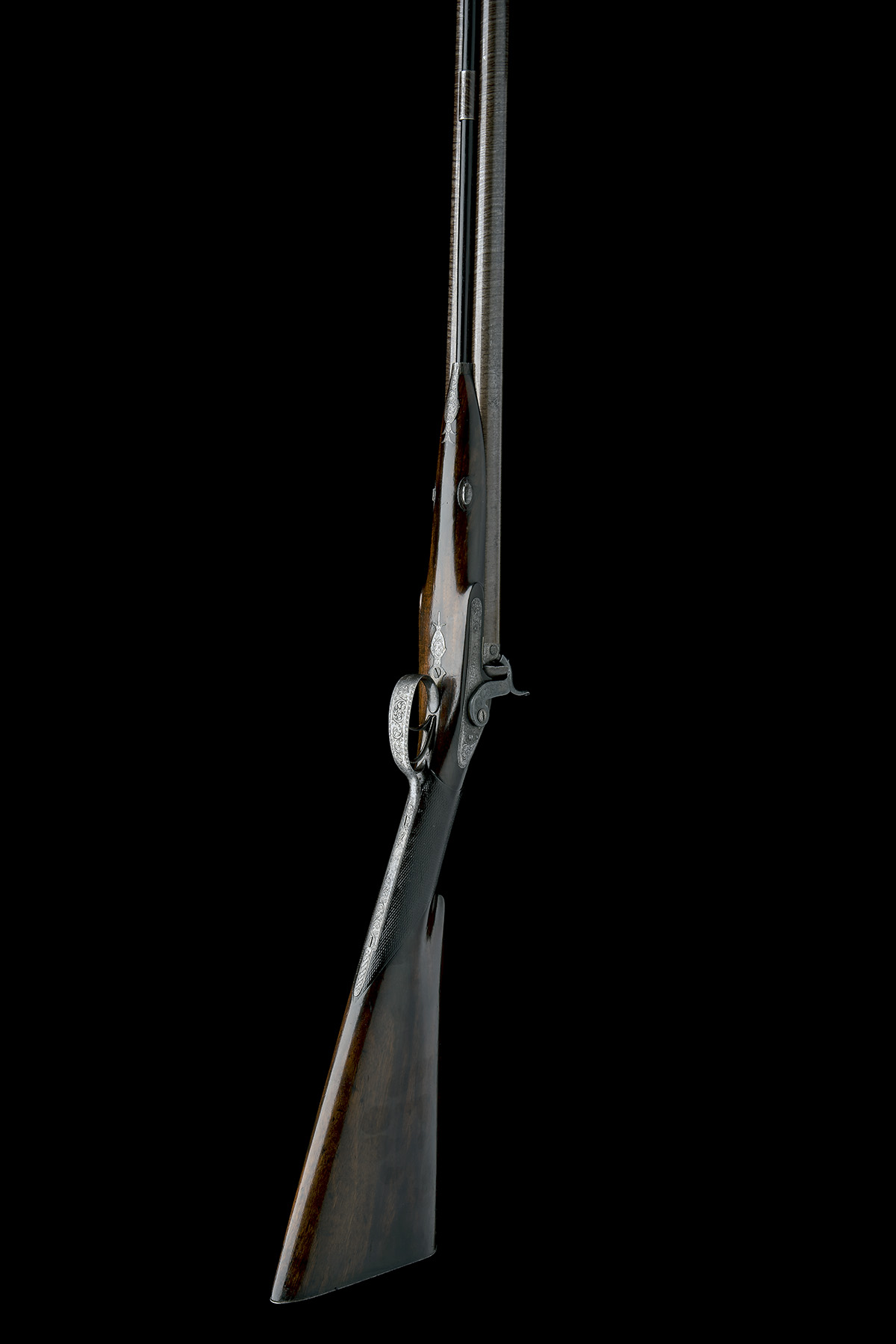 J.C. REILLY, LONDON A GOOD 12-BORE PERCUSSION DOUBLE-BARRELLED SPORTING-GUN, serial no 5580, for - Image 5 of 11