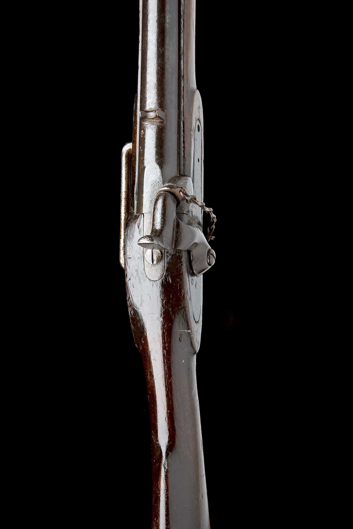 A .650 PERCUSSION SINGLE-BARRELLED CAVALRY-CARBINE, UNSIGNED, MODEL 'INDIA PATTERN', no visible - Image 5 of 7