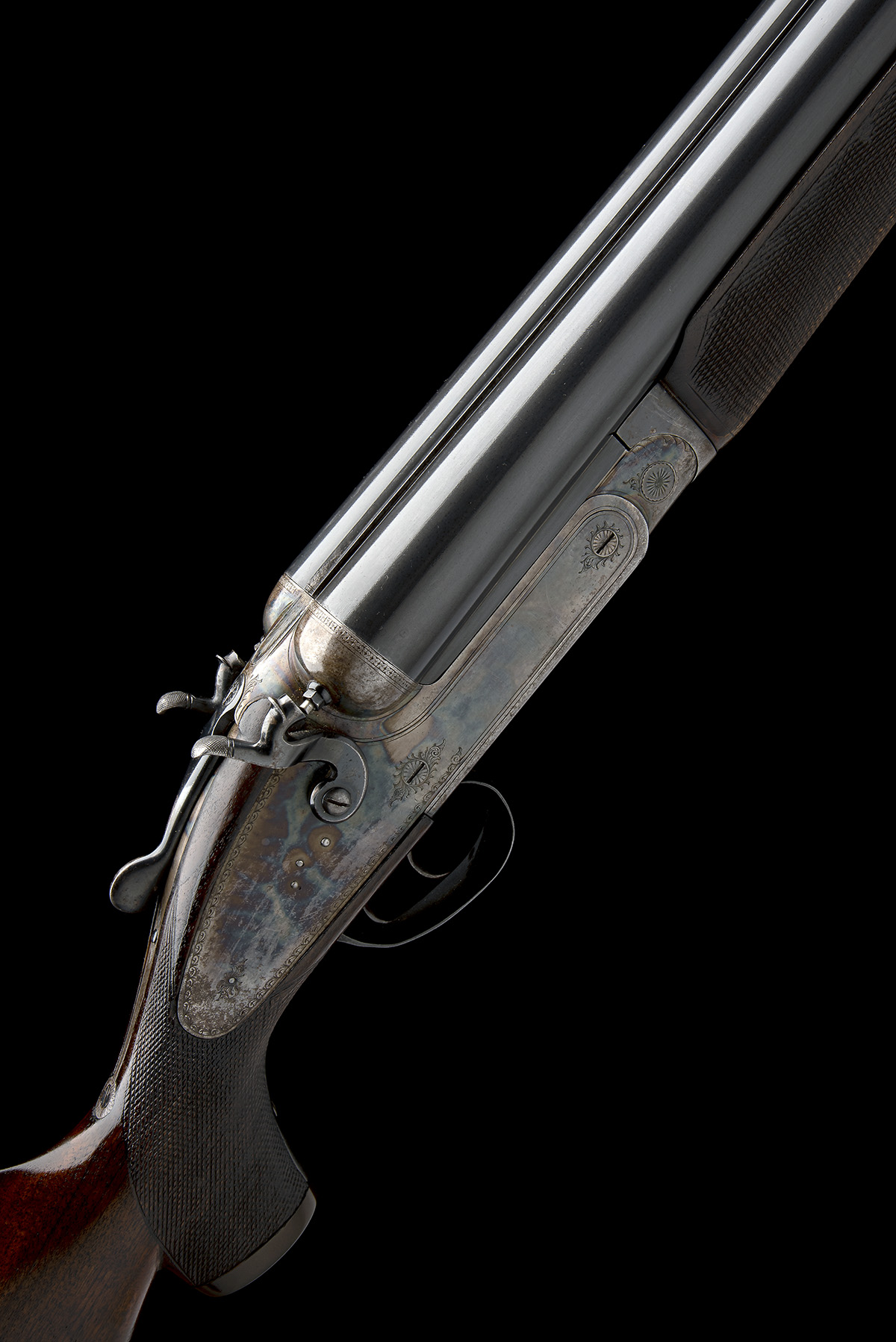 A. MYERS A MASSIVE 4-BORE (4 1/2IN.) DOUBLE-BARRELLED TOPLEVER HAMMERGUN, serial no. 806, for