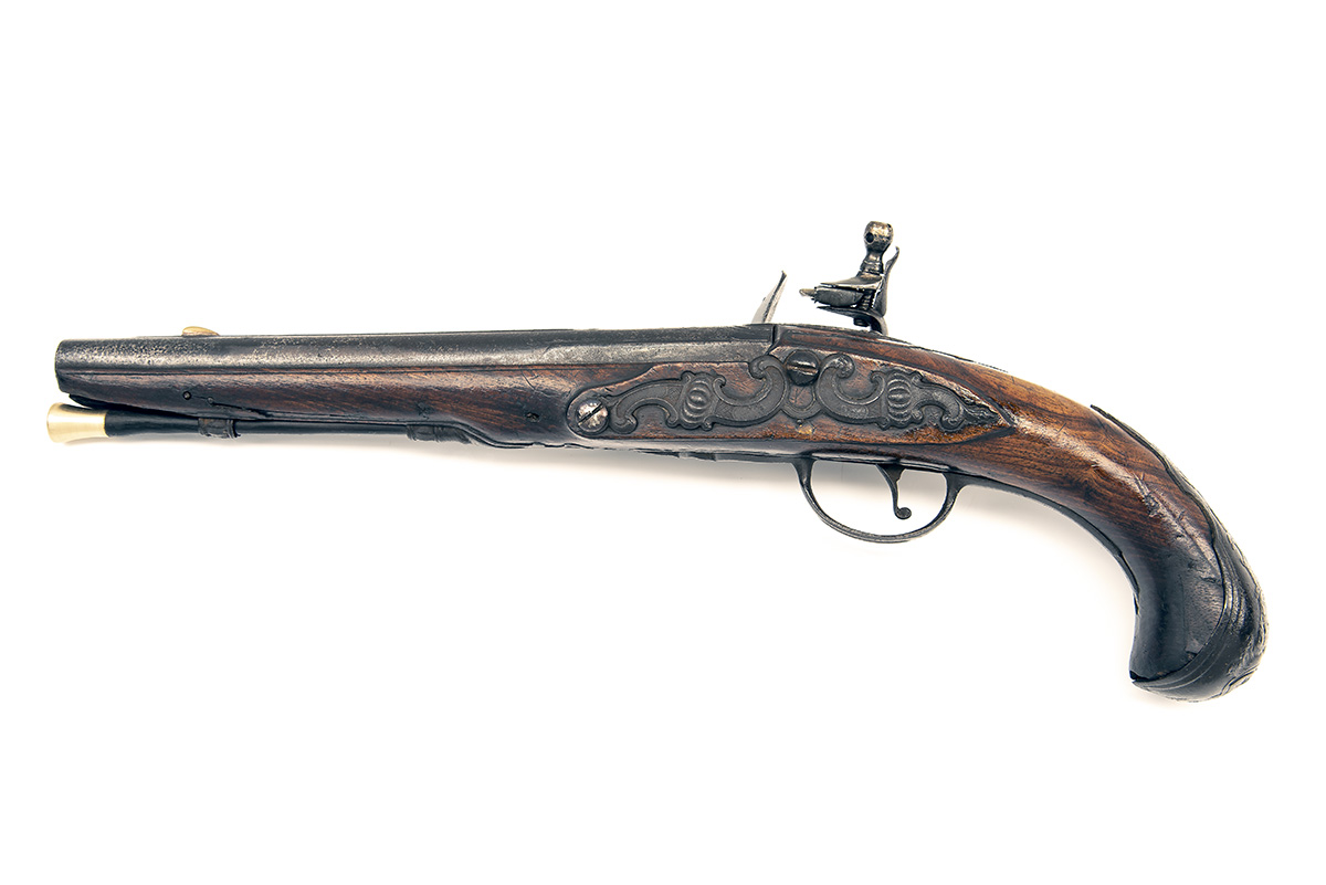 A 22-BORE FLINTLOCK HORSE-PISTOL, UNSIGNED, no visible serial number, German or Bohemian circa 1775, - Image 2 of 7