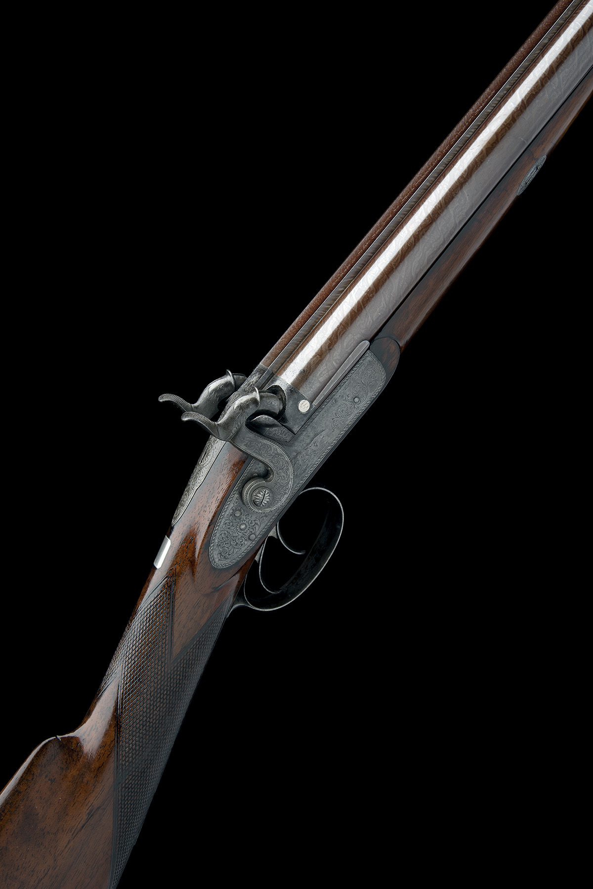 G & J DEAN, LONDON A FINE 16-BORE PERCUSSION DOUBLE-BARRELLED SPORTING-GUN, serial no. 6201, circa