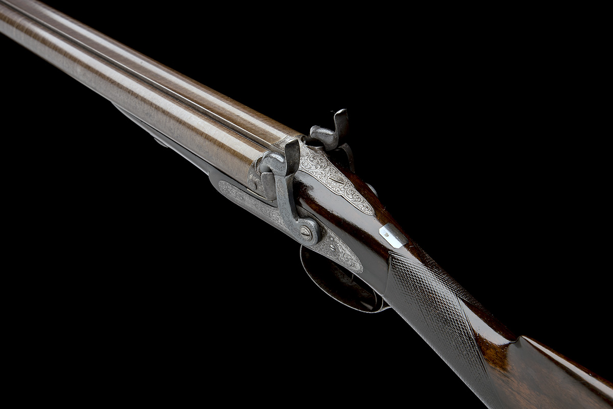 J.C. REILLY, LONDON A GOOD 12-BORE PERCUSSION DOUBLE-BARRELLED SPORTING-GUN, serial no 5580, for - Image 10 of 11
