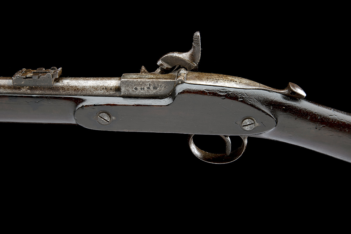 WESTLEY RICHARDS, BIRMINGHAM A .450 PERCUSSION BREECH-LOADING CARBINE, MODEL 'MONKEY-TAIL', serial - Image 9 of 9