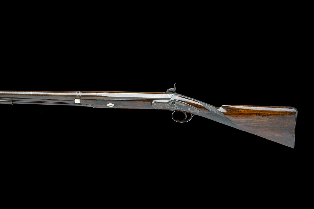 P. HAST, COLCHESTER A 9-BORE PERCUSSION SINGLE-BARRELLED FOWLING-PIECE, no visible serial number, - Image 2 of 8