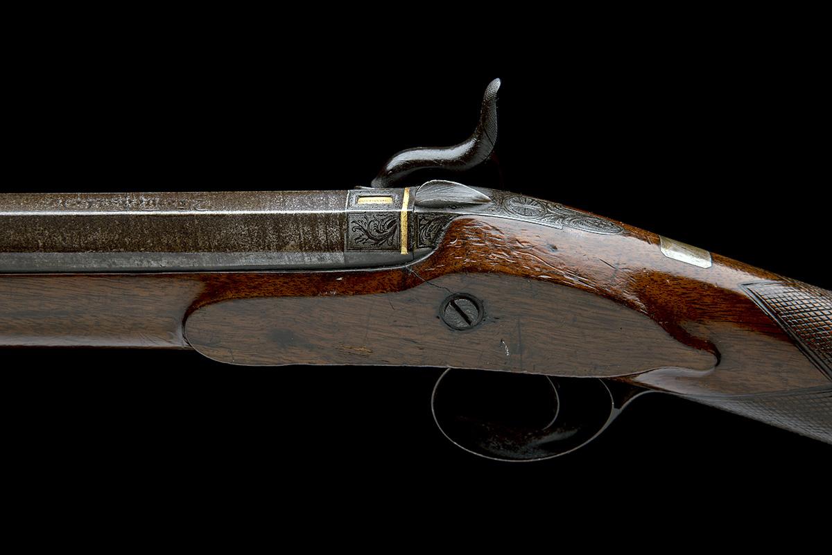 W. DAVISON, NEWCASTLE A 14-BORE PERCUSSION SINGLE-BARRELLED SPORTING-GUN, no visible serial - Image 6 of 10