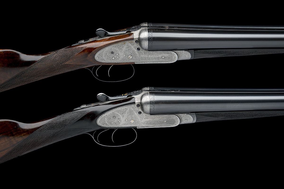 B. NORMAN A PAIR OF 12-BORE SIDELOCK EJECTORS, serial no. 2051 / 2, first quarter of the 20th