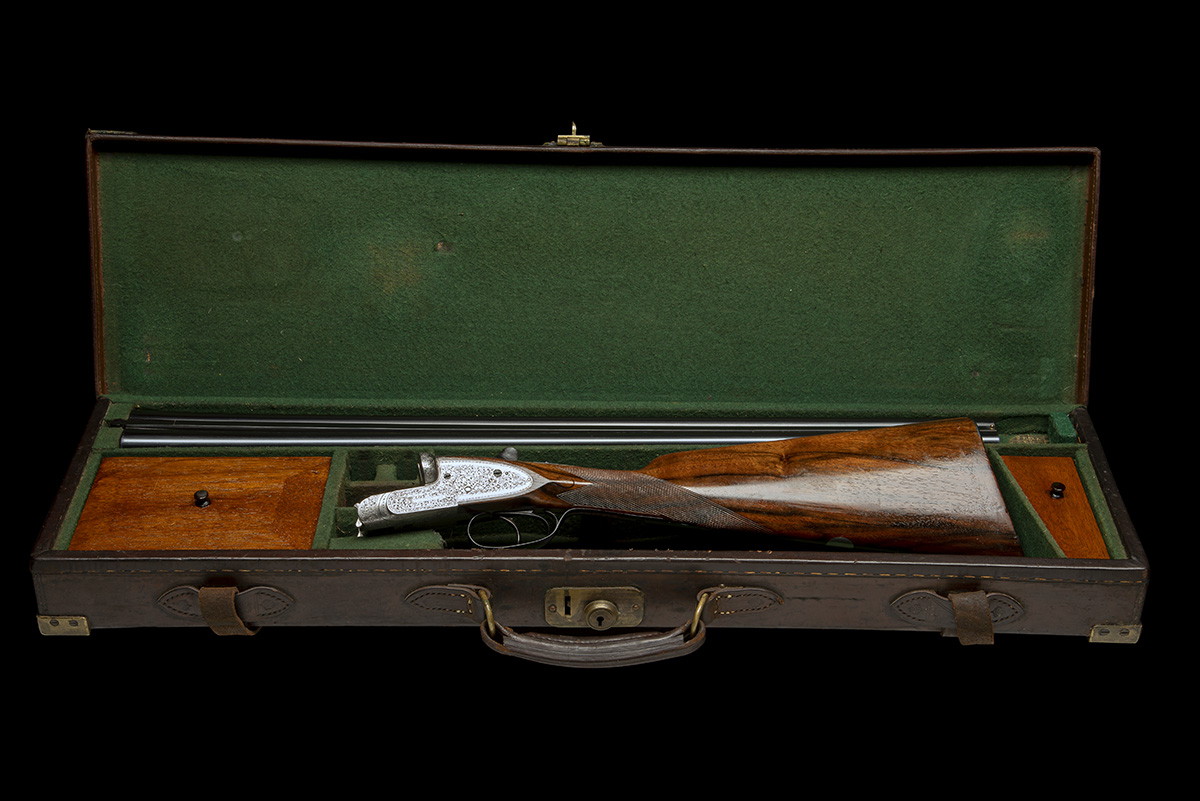WILLIAM EVANS A 12-BORE SIDELOCK EJECTOR, serial no. 11547, for 1916, 28in. nitro barrels, the rib - Image 10 of 12