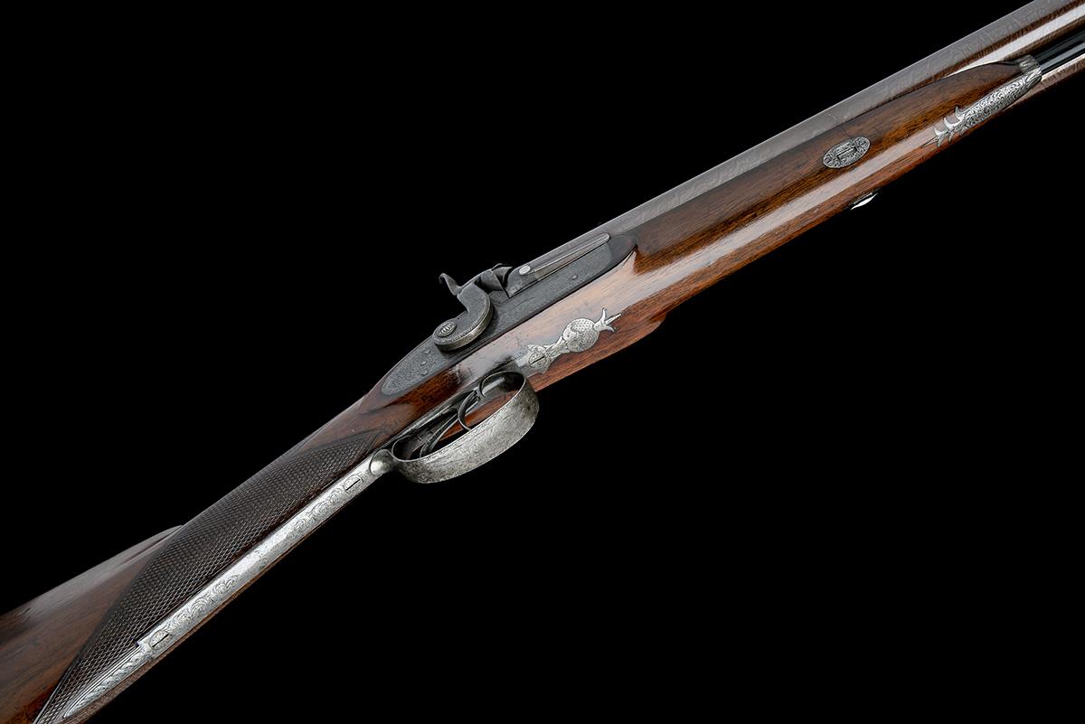 G & J DEAN, LONDON A FINE 16-BORE PERCUSSION DOUBLE-BARRELLED SPORTING-GUN, serial no. 6201, circa - Image 3 of 8