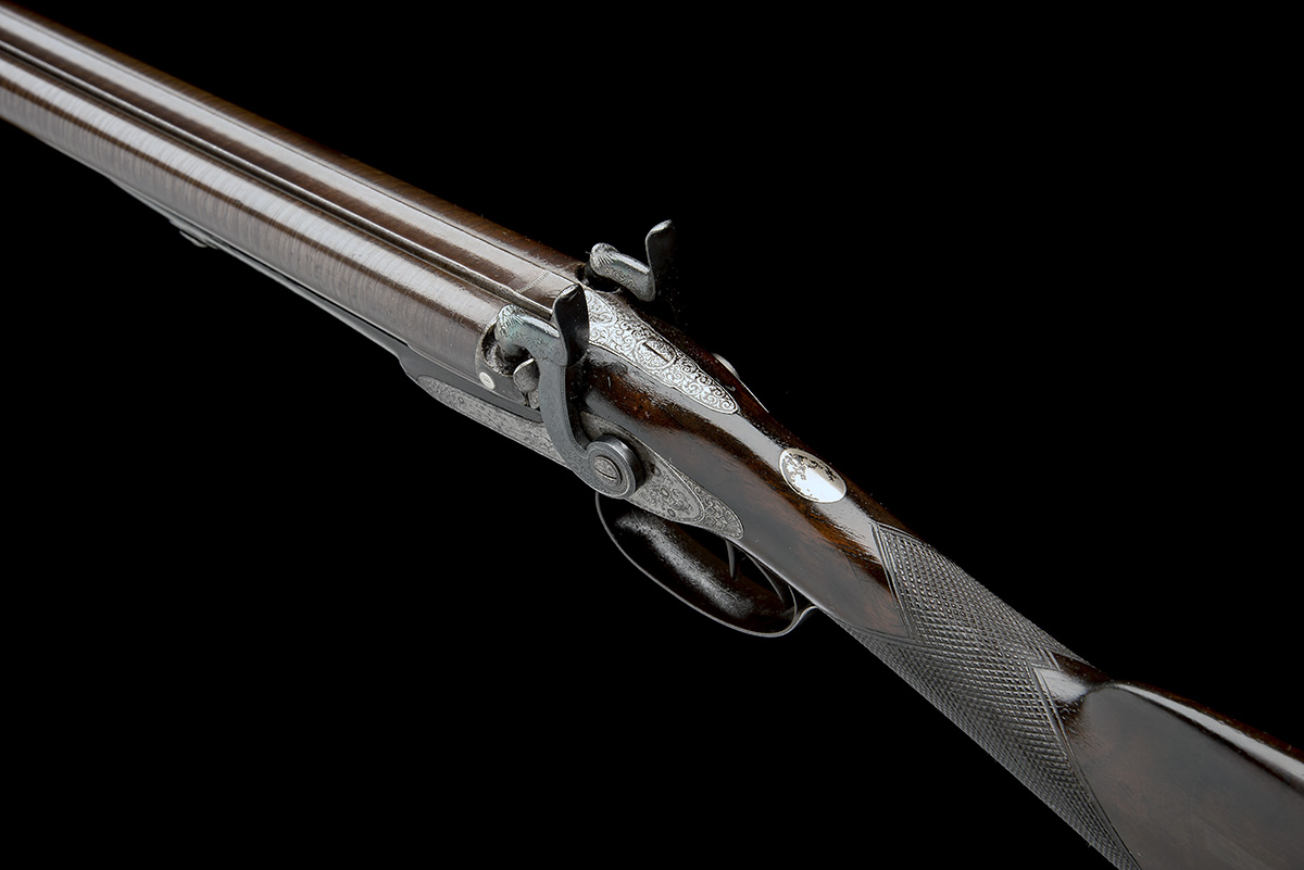 J.W. EDGE, MANCHESTER A 14-BORE PERCUSSION DOUBLE-BARRELLED SPORTING-GUN, serial no. 1350, circa - Image 8 of 8
