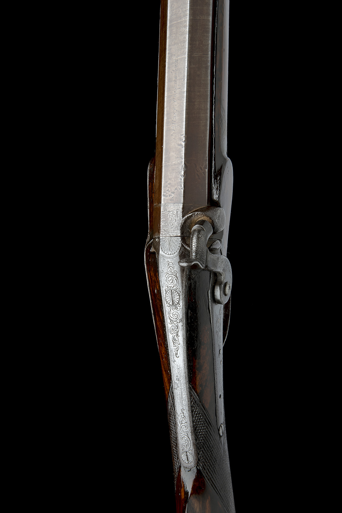 P. HAST, COLCHESTER A 9-BORE PERCUSSION SINGLE-BARRELLED FOWLING-PIECE, no visible serial number, - Image 6 of 8