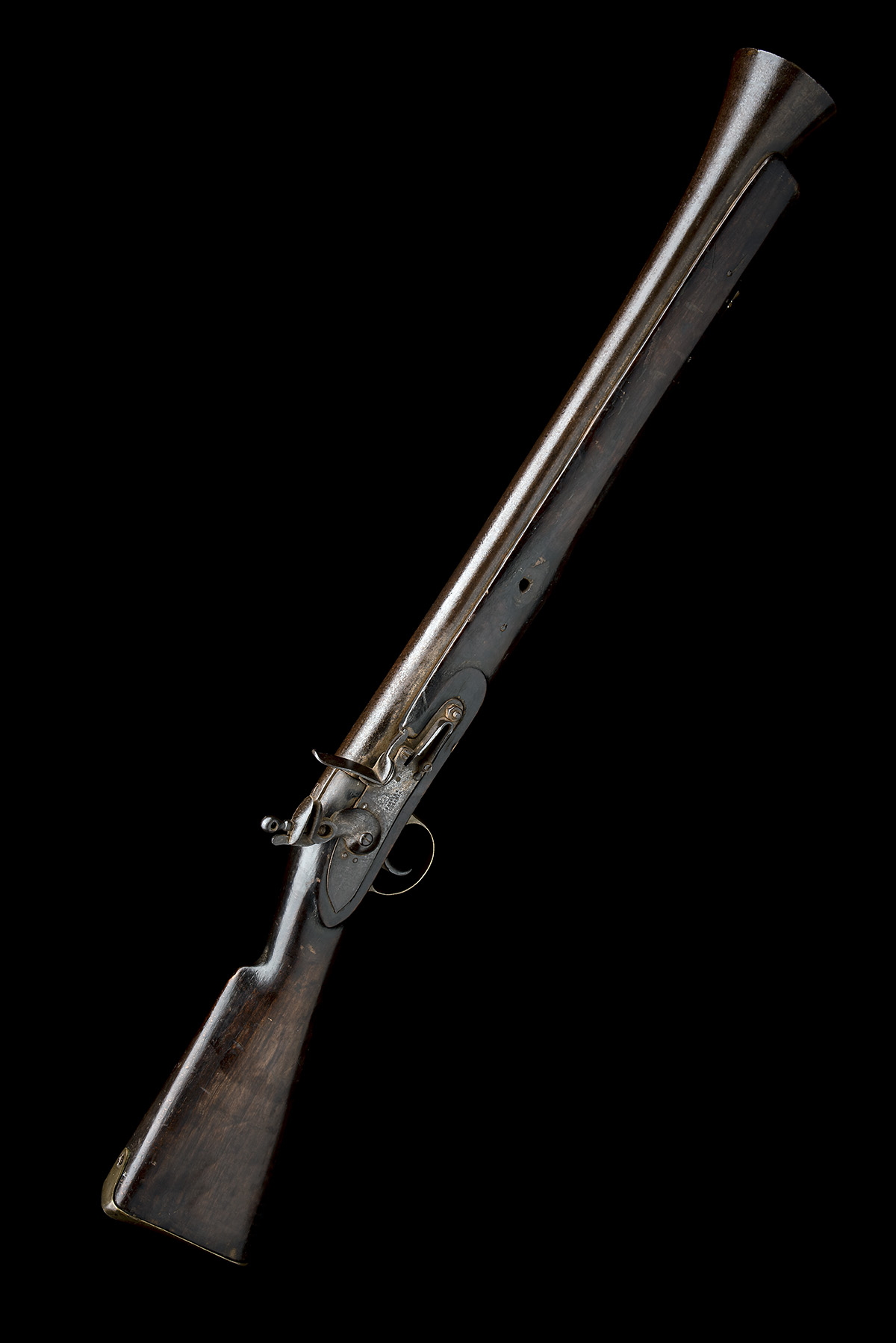COOPER & GOODMAN, BIRMINGHAM A SUBSTANTIAL 10-BORE FLINTLOCK IRON-BARRELLED BLUNDERBUSS, no